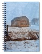 Barn In Winter Spiral Notebook