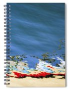 Boat Reflections At Sea Spiral Notebook