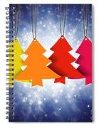 Christmas Card  Spiral Notebook