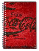 Coca Cola Classic Vintage Rusty Sign Spiral Notebook