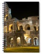 Coliseum Illuminated At Night. Rome Spiral Notebook