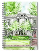 Custom House Rendering Spiral Notebook