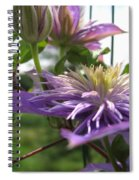 Double Clematis Named Crystal Fountain Spiral Notebook