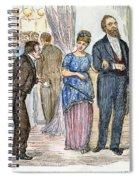 Election Cartoon, 1877 Spiral Notebook