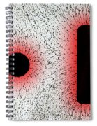 Electrostatic Field Lines Like Charges Spiral Notebook