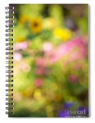 Flower Garden In Sunshine Spiral Notebook