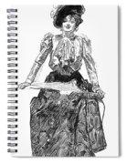 Gibson Girl, 1899 Spiral Notebook