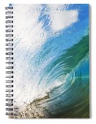 Glassy Breaking Wave Spiral Notebook
