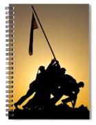 Iwo Jima Memorial Spiral Notebook