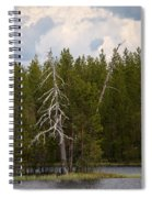 Lake Huosius At Hossa Spiral Notebook