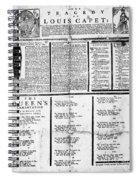 Louis Xvi: Execution, 1793 Spiral Notebook