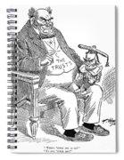 Mckinley Cartoon, 1900 Spiral Notebook