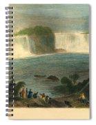 Niagara Falls, 1837 Spiral Notebook