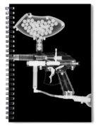 Paintball Gun Spiral Notebook