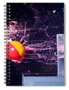 Paintball Shot At Razor Blade Spiral Notebook