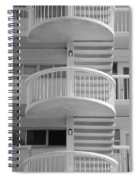 3 Rails In Black And White Spiral Notebook