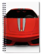 Red Ferrari F430 Scuderia Spiral Notebook