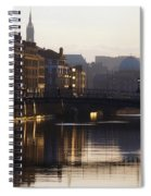 River Liffey, Dublin, Co Dublin, Ireland Spiral Notebook