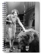 Silent Film Still: Animal Spiral Notebook