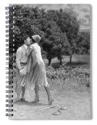 Silent Film Still: Golf Spiral Notebook