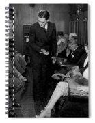 Silent Film Still: Trains Spiral Notebook