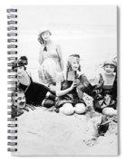 Silent Still: Beach Spiral Notebook