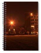 Sodium Vapor Lights On College Campus Spiral Notebook