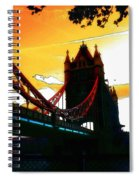 Sunset At Tower Brigde Spiral Notebook