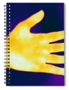 Thermogram Of A Hand Spiral Notebook