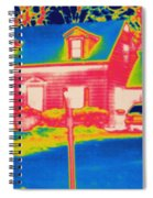 Thermogram Of A House Spiral Notebook