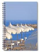 Umbrellas In The Sun Spiral Notebook