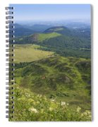 View From Puy De Dome Onto The Volcanic Landscape Of The Chaine Des Puys. Auvergne. France Spiral Notebook
