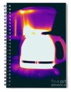 Warming Coffee Machine Spiral Notebook