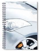 350z Car Front Close-up  Spiral Notebook