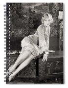Silent Film Still: Woman Spiral Notebook