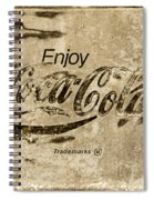 Coca Cola Sign Grungy Retro Style Spiral Notebook