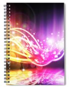 Abstract Lighting Effect  Spiral Notebook
