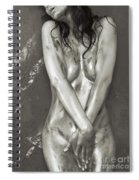 Beautiful Soiled Naked Woman's Body Spiral Notebook