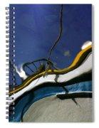 Boat Reflections At Sea Spiral Notebook