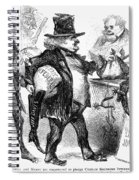 Civil War: Cartoon, 1861 Spiral Notebook