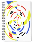 4 Colors Abstract Spiral Notebook
