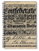 Confederate Banknote Spiral Notebook