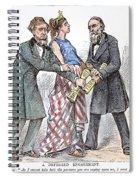 Election Cartoon, 1876 Spiral Notebook