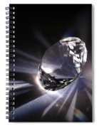 Faceted Quartz Gem Spiral Notebook