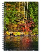 Fall Forest And River Landscape Spiral Notebook