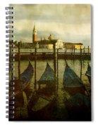 Gondolas. Venice Spiral Notebook