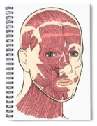 Illustration Of Facial Muscles Spiral Notebook