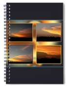 4 In 1 Sunsets Spiral Notebook