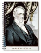 James Buchanan, 15th American President Spiral Notebook