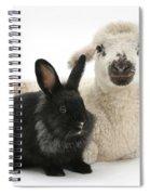 Lamb And Rabbit Spiral Notebook